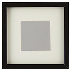 Tesco Basic Photo Frame Black 7x7 with 4x4 Mount