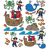 Pirate Quick-Sticks, 50 Wall Stickers
