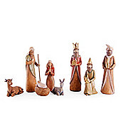 Eight Piece Traditional Design Christmas Nativity Set
