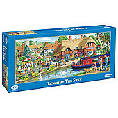 Games Lunch at Swan 636 Pieces Jigsaw Puzzle