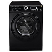 Hotpoint WDUD9640K Washer Dryer, 9kg Load, 1400 RPM Spin, A Energy Rating, Black
