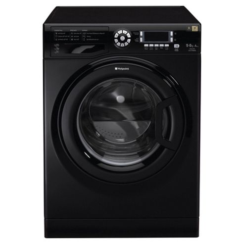 Hotpoint WDUD9640K Washer Dryer, 9Kg Wash Load, 1400 RPM Spin, A Energy Rating, Black