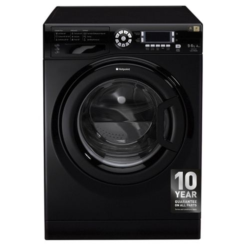 Hotpoint Ultima Washer Dryer, WDUD 9640K UK, 9KG load, with 1400 rpm - Black