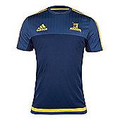 adidas Highlanders Super Rugby Performance Tee15/16 - Blue