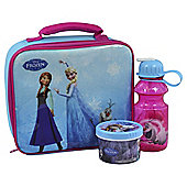 Disney Frozen Lunch Bag, Water Bottle and Snack Pot Set