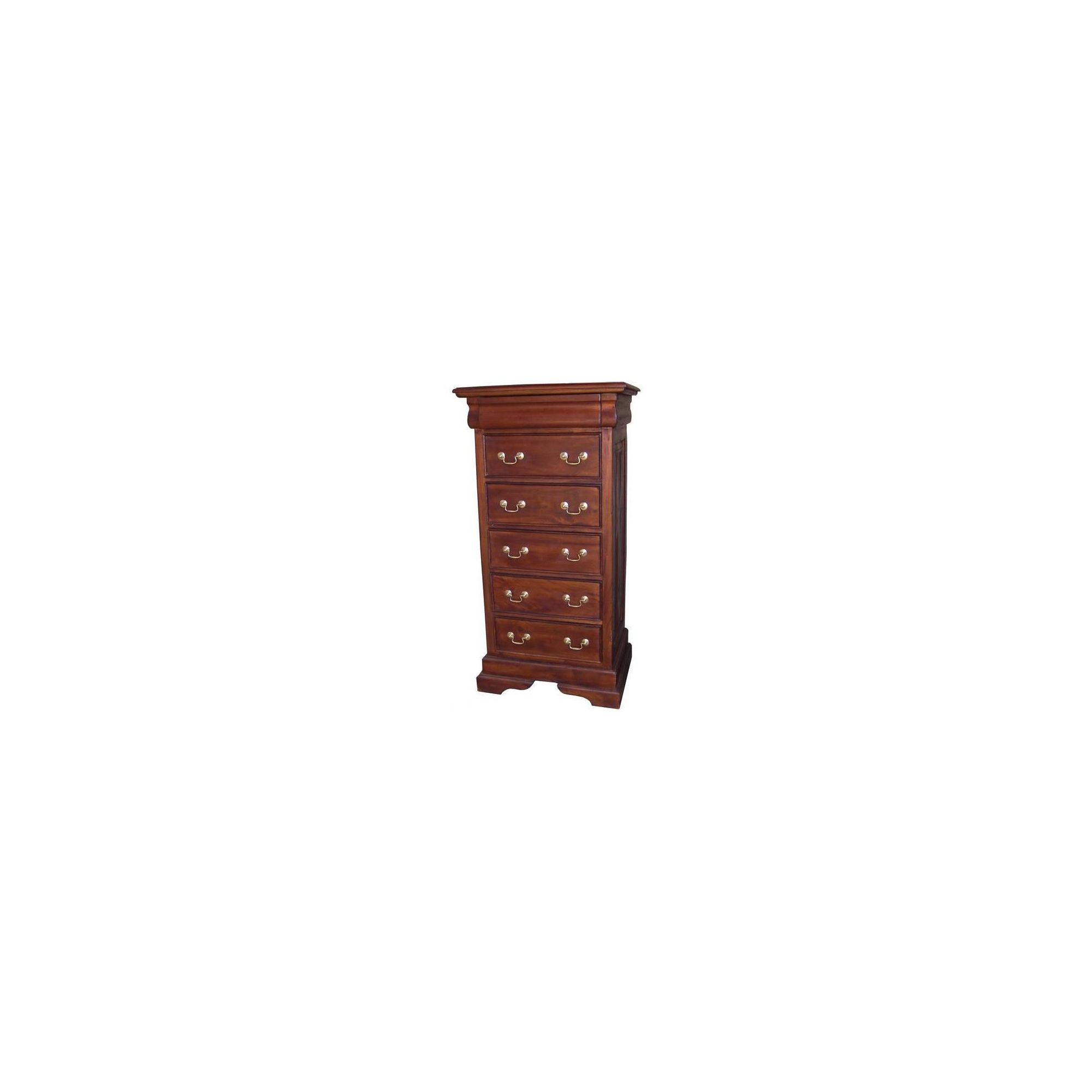 Lock stock and barrel Mahogany 6 Drawer Sleigh Chest in Mahogany - Antique White at Tesco Direct