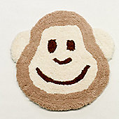 Rugs with Flair Nursery Cheeky Monkey Natural Novelty Rug - Novelty Shaped 75cm x 80cm