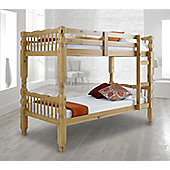 Happy Beds Chunky 3ft Bunk Bed Two Sleeper Spring Mattress