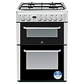 Indesit 60cm Double Gas Oven Cooker