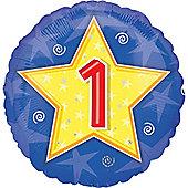18' Stars and Swirls Birthday Foil - 1 (each)