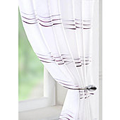 Waves Voile Curtain Panel - Purple