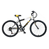 "Concept Rawbone Boys 18 Speed 24"" Black/White"