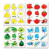 Bigjigs Toys BJ086 Colours Set 1 Pegged Puzzles (Set of 4)