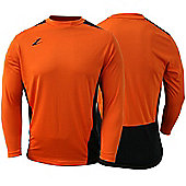 Ziland Team Football Shirt Long Sleeve - Orange & Black