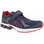 Osaga Boys Approach 2 Navy and Red Running Trainers