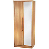 Welcome Furniture Sherwood Tall Wardrobe with Mirror - English Oak
