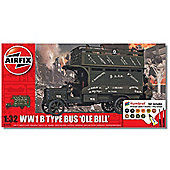 Airfix 1:32 Scale WW1 B Type Bus Ole Bill Gift Set Model Kit
