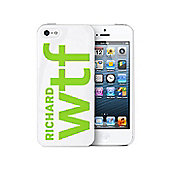 Personalised WTF Slogan iPhone 5 Case