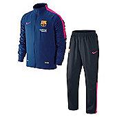2014-15 Barcelona Nike Woven Tracksuit (Blue-Pink) - Blue