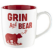 Tesco Grin and Bear it Slogan Mug Single