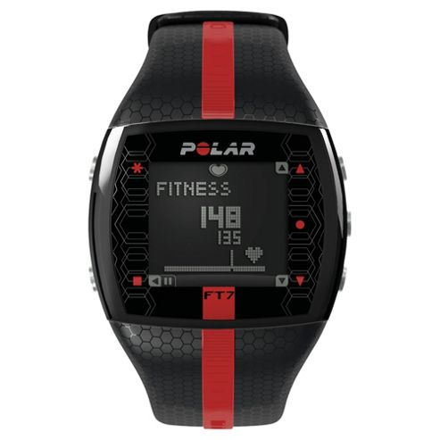 Polar FT7 Sports Watch/Heart Rate Monitor, Black/Red