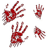 Halloween Bloody Hands Wall Stickers