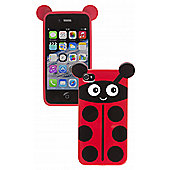 Trendz iPhone 4 and iPhone 4S Pink Ladybird Character Case (Red)