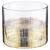 Tesco Tealight Holder Gold Scratch Effect