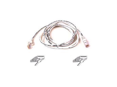 Cable patch CAT5 RJ45 snagless 3m white