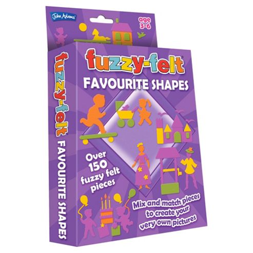John Adams Trading Fuzzy Felt Favourite Shapes Hanging Pack
