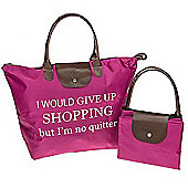 No Quitter Shopping Fold Up Large Shopping Bag