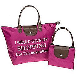 No Quitter Shopping Fold Up Large Shopping Bag