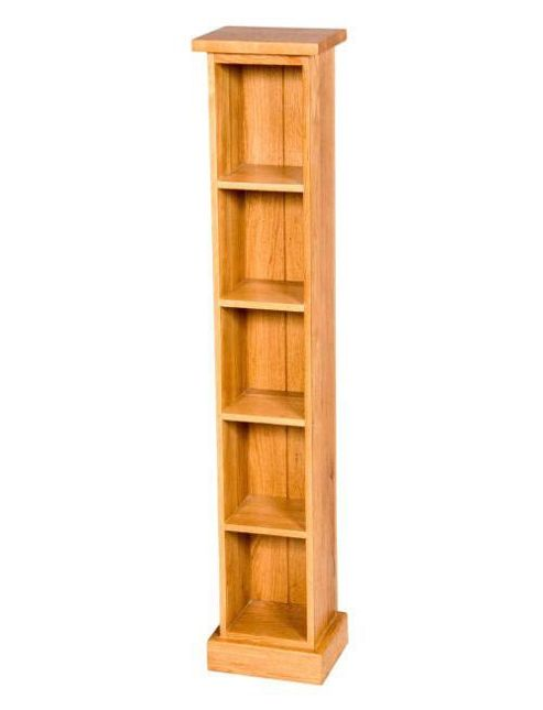 Elements Rustic Single Oak DVD Rack