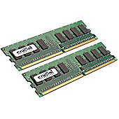 Crucial 4GB Kit (2GBx2) PC2-5300 DDR2 Desktop Memory Upgrade 240-pin Dimm