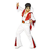 Elvis White/Red - Adult Costume Size: 38-40
