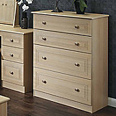 Welcome Furniture Corrib 4 Drawer Deep Chest - Light Oak