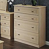 Welcome Furniture Corrib 4 Drawer Deep Chest - Light Oak