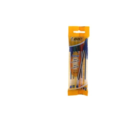 Bic Cristal Medium Ballpoint Pen Assorted Pouch of 4 (Contains 40 Pens)