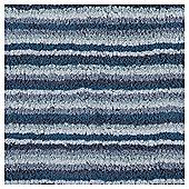 Tesco Blue Core Stripe Bath Mat
