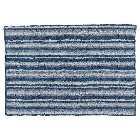 buy tesco blue core stripe bath mat from our bath mats. Black Bedroom Furniture Sets. Home Design Ideas