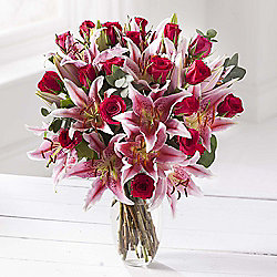 Cerise Rose & Lily Extra Large Bouquet