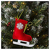 Ice Skate Christmas Tree Decoration