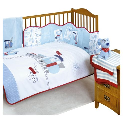 Bizzi Growin Henry and Barnaby Cot Bed quilt and bumper set