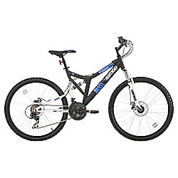 "Vertigo Monteaux 24"" Dual Suspension Mountain Bike, Black"