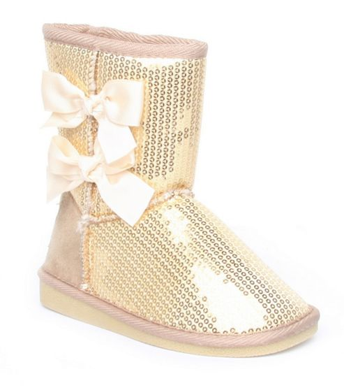 Gold Boots For Girls Pineapple Girls Sequin Gold