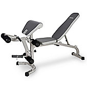 Tunturi Deluxe Adjustable Weight Bench with Preacher Pad & Leg Developer