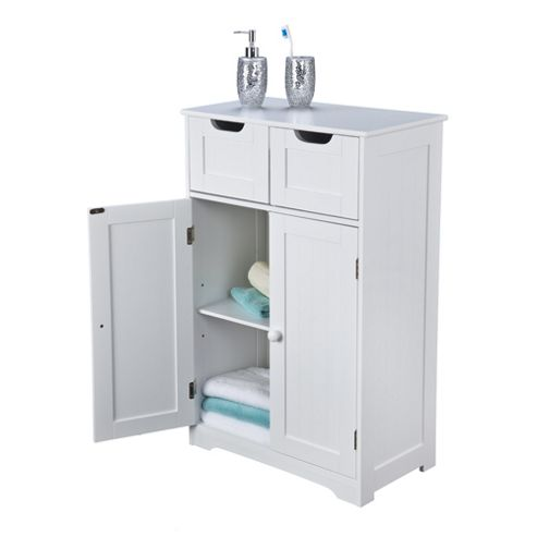 Buy kensa double cabinet white from our bathroom wall for Bathroom cabinets tesco