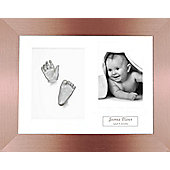 3D Baby Casting Kit - Bronze Frame - Silver Paint