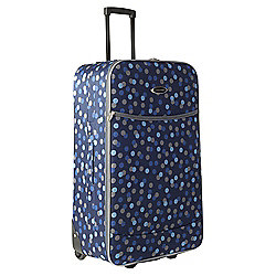 Constellation 2-Wheel Suitcase, Blue Dots Large