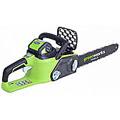 GreenWorks GD40CS40K2X G-MAX DigiPro 40V Cordless Chainsaw with 2 x 2ah Batteries and Charger
